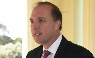 Le ministre australien de l'Immigration Peter Dutton, ici à Canberra le 21 septembre 2015, a soutenu qu'aucun des demandeurs d'asile de Manus n'irait en Australie