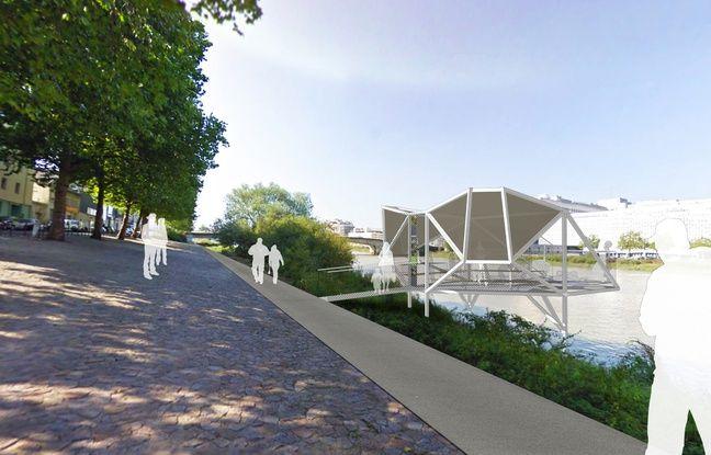 La future pêcherie sur l'île de Nantes