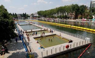Les bassins de baignade à la Villette pour Paris Plages 2018