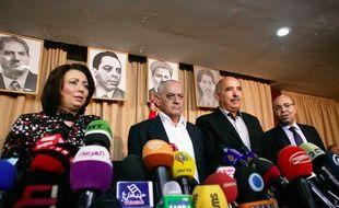 Les dirigeants des quatre organisations tunisiennes récompensées par le prix Nobel de la paix 2015.