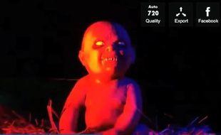Le Jésus d'une crèche zombie installée à Cincinnati, aux Etats-Unis.