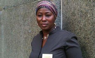 Aïssata Bocum, femme de chambre à l'hôtel New Yorker, le 6 juin 2011 devant le tribunal de New York.