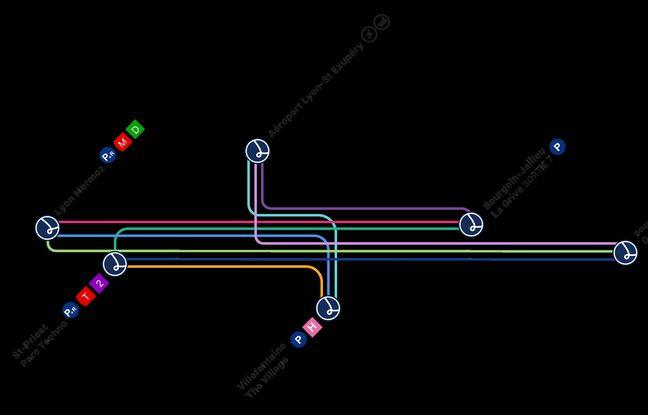 Les lignes de covoiturage créées entre le Nord Isère et Lyon par Lane.
