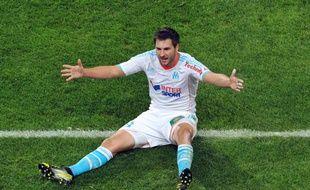 L'attaquant marseillais André-Pierre Gignac a inscrit son 9e but de la saison en ligue 1 face à Evian dimanche.