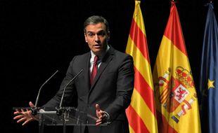 Pedro Sanchez prononçant son discours au Théâtre Liceu. 21 Juin 2021
