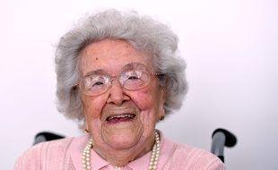 Honorine Rondello, ici le 7 septembre 2016, s'est éteinte samedi 21 octobre 2017 à l'âge de 114 ans.