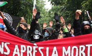 Chaque année depuis le décès de Clément Méric, une marche antifasciste est organisée pour commémorer sa mort. Photo prise le 3 juin 2017.