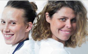 La cheffe Amélie Darvas et la sommelière Gaby Benicio du restaurant Aponem, dans l'Hérault
