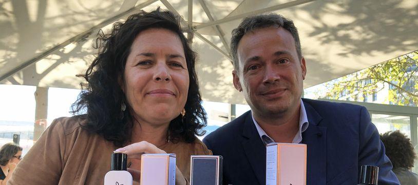 Anne et Stéphane Gerveau viennent de lancer une gamme de parfums et de cosmétiques baptisée Bienvenue en Bretagne.