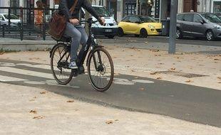 Illustration de cyclistes à  Lyon