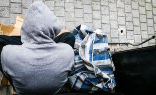 Illustration d'une personne sans abri.