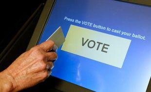 Une machine à voter dans le comté de Fairfax, en Virginie.
