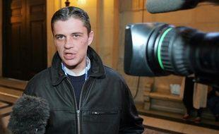 Daniel Legrand fils, acquitté d'Outreau, le 18 novembre 2005 à Paris.