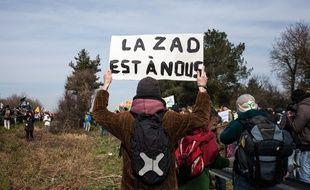 Des opposants au prohjet d'aéroport de Notre-Dame-des-Landes.