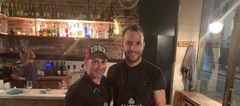 Ettore (à g.) et Davide, deux frères francoitaliens à la tête d'un concept de trattoria du futur