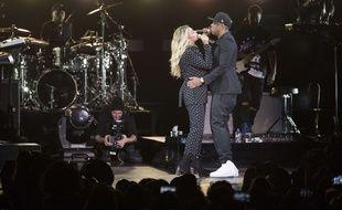 Beyoncé et Jay-Z en concert à Cleveland, en 2016.