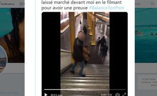 Une jeune femme a montré dans une vidéo sur les réseaux sociaux l'homme qui venait de lui toucher les fesses dans le métro à Paris.