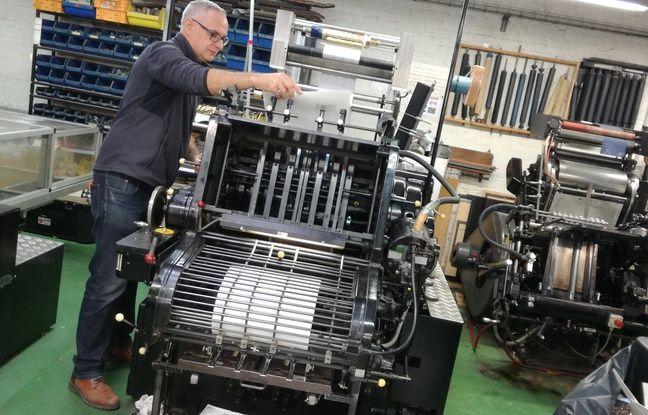 Christophe Michel, nouveau gérant de l'imprimerie lilloise Blas-Desmoutiez, bientôt centenaire.