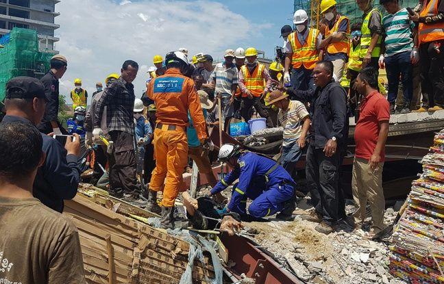 VIDEO. Cambodge: 28 morts dans l'immeuble effondré, deux survivants miraculeusement retrouvés