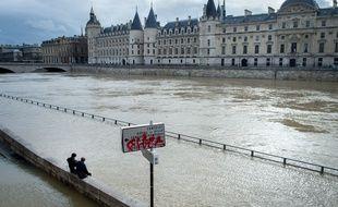Le 25 janvier 2018, la crue de la Seine à Paris