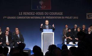 Jean-François Copé a pris la parole lors de la convention UMP qui s'est tenue à Lambersart (Nord) le 22 novembre 2011.