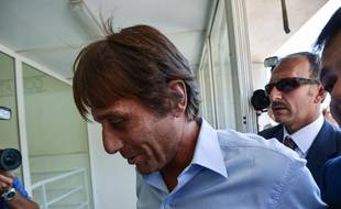 L'Italien Antonio Conte lors de son audition dans une affaire de matchs arrangés, en 2012, à Rome.