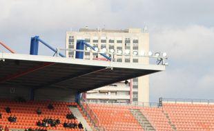 La tour d'Assas, vue depuis le stade de la Mosson