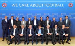 Les coachs européen lors d'une réunion de l'UEFA