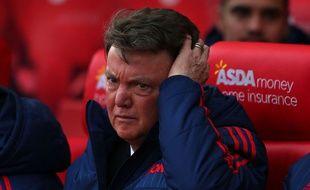 Louis van Gaal lors du match entre Stoke City et Manchester United le 26 décembre 2015.