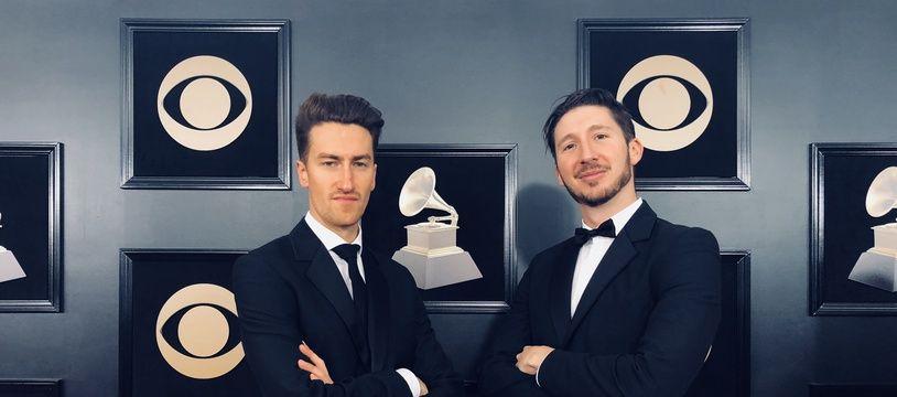 Lionel Hirlé (à gauche) et Grégory Ohrel (à droite) lors des Grammys fin janvier aux Etats-Unis.
