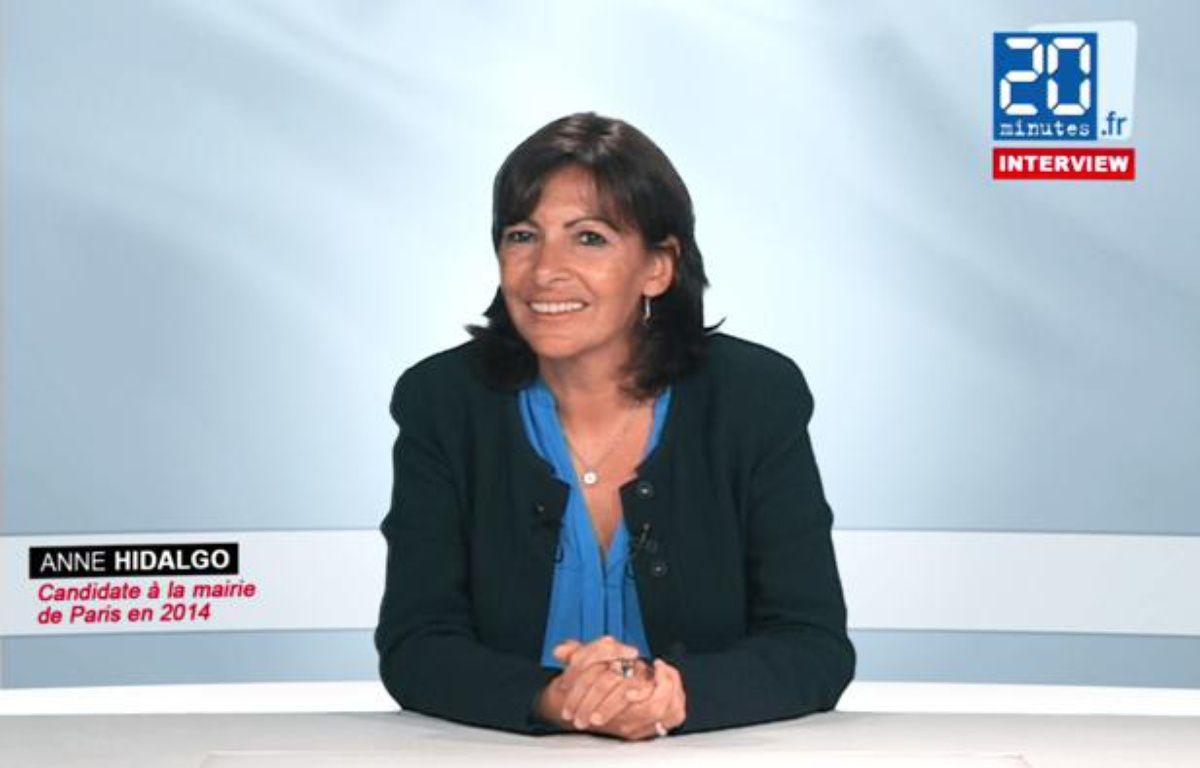 Anne Hidalgo, candidate socialiste à la mairie de Paris en 2014, le 17 septembre 2012. – Capture d'écran/ 20Minutes