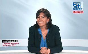 Anne Hidalgo, candidate socialiste à la mairie de Paris en 2014, le 17 septembre 2012.