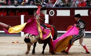 Le torero El Cid a été encorné par un taureau le 8 juin 2018 à Madrid