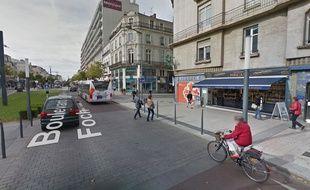Le boulevard Foch à Angers.