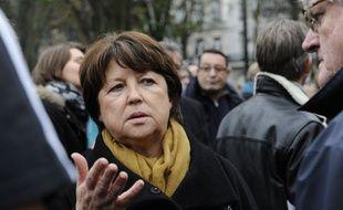 Martine Aubry, maire PS de Lille et ex-ministre, le 16 novembre 2015 à Lille.