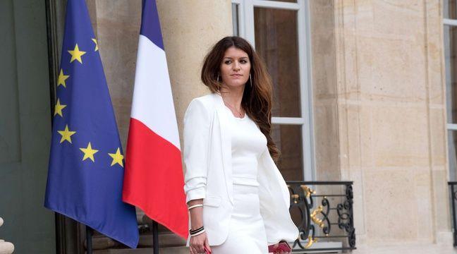 La secrétaire d'Etatchargée de l'Egalité entre les femmes et les hommes Marlène Schiappa – VILLARD/SIPA