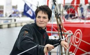 La navigatrice Ellen MacArtur au départ de la route du Rhum, le 27 novembre 2006.
