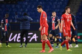Les joueurs du Bayern Munich dépités après leur élimination par le PSG en quart de finale de la Ligue des champions, le 13 avril 2021.