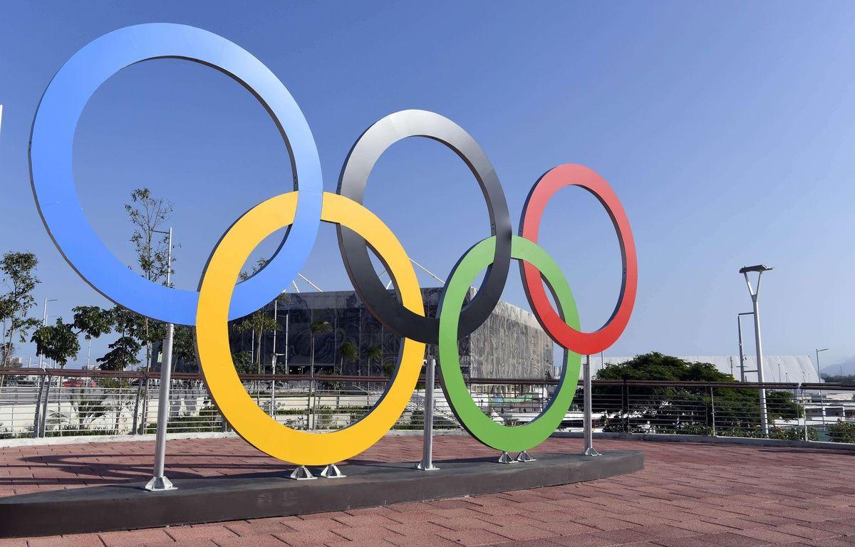 Les anneaux olympiques, à Rio de Janeiro. – SIPANY/SIPA