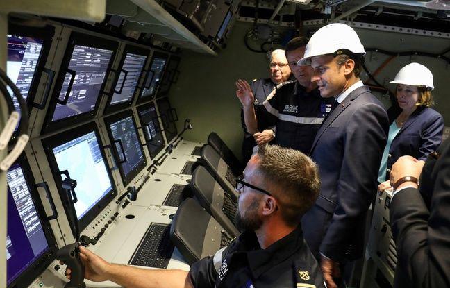 Emmanuel Macron lance officiellement le nouveau sous-marin nucléaire français