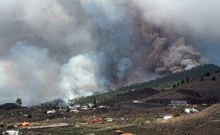 Le volcan Cumbre Vieja de l'île espagnole de La Palma est entré en éruption, le 19 septembre 2021.