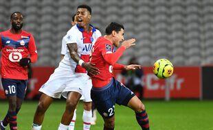 Lille face au PSG le 20 décembre 2020.