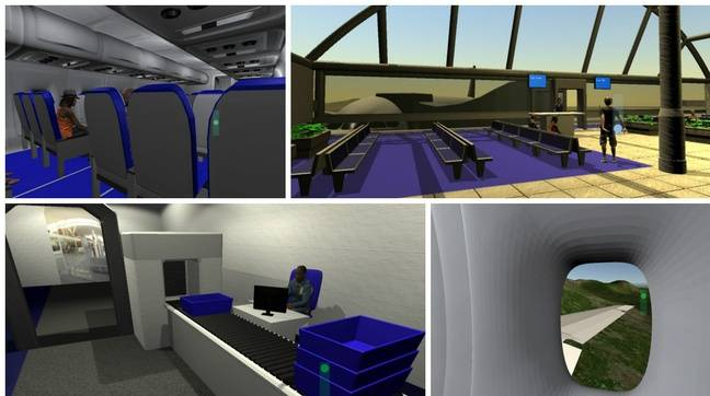 Images issues de l'exercice de réalité virtuelle.