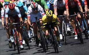 Lors du passage du Tour de France 2019 à Albi.