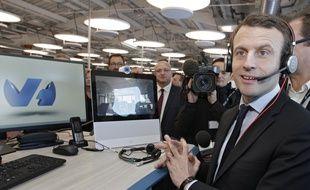 Emmanuel Macron, a visité le Campus d'OVH, à Roubaix.