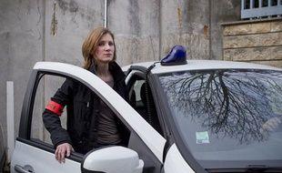 Le 6 mars 2013. Portrait de Chloe G., lieutenant de police et chef de la Brigade de Surete Urbaine au commissariat de Garges-les-Gonesse.