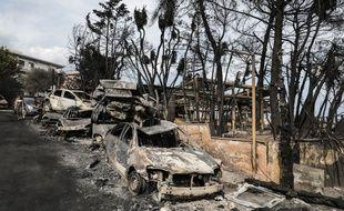 Le village de Mati, en Grèce, a été ravagé par un terrible incendie.
