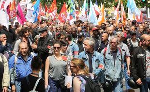 Des manifestants à Paris le 22 mai 2018, lors de la grève des fonctionnaires.