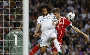 Marcelo aurait dû concéder un penalty lors de la demi-finale retour de Ligue des champions entre le Real Madrid et le Bayern Munich, le 1er mai 2018.
