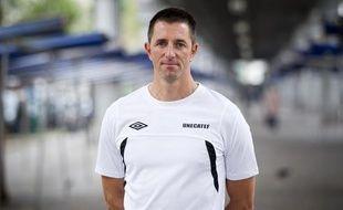 L'ancien préparateur physique du PSG Raphaël Fèvre le mardi 1er octobre 2013 à Paris.
